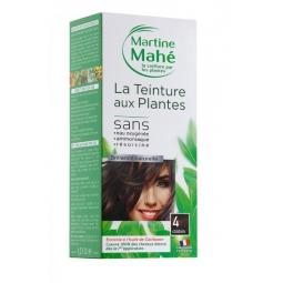 Teinture Aux Plantes N°4 Châtain 125ml ou 250ml MARTINE MAHE