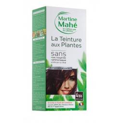 Teinture Aux Plantes N°4bis Châtain Roux 125ml ou 250ml MARTINE MAHE