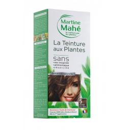 Teinture Aux Plantes N°5 Châtain Clair Doré 125ml ou 250ml MARTINE MAHE