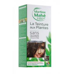 Teinture Aux Plantes N°6 Châtain Clair Cendré 125ml ou 250ml MARTINE MAHE