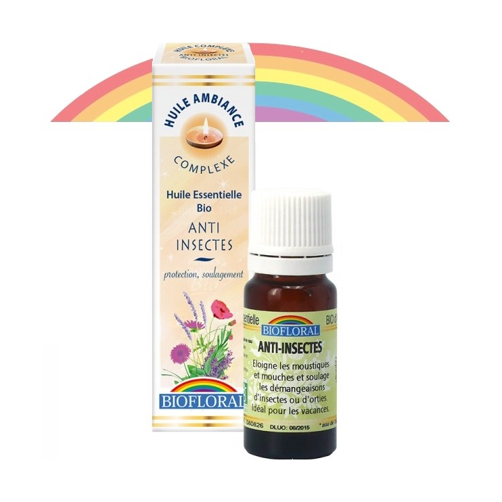 Huile d'Ambiance Anti-insectes Bio 10ml BIOFLORAL