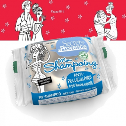 Shampoing Solide Antipelliculaire Bio 85g SECRETS DE PROVENCE