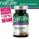 Vente Valériane Bio 60 ou 180 Gélules BOUTIQUE NATURE
