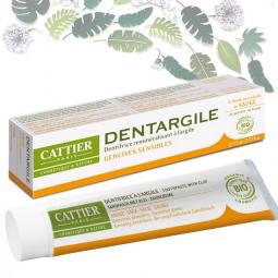 Dentifrice Adultes Dentargile Sauge Bio 75ml CATTIER