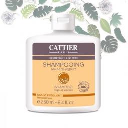 Shampoing Soluté de Yogourt  Usage Fréquent Bio 250ml CATTIER