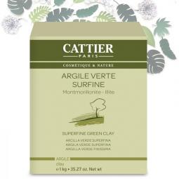 Argile Verte Surfine 1kg ou 3 kg CATTIER