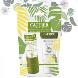 Kit Hydratant Crème Mains Sèches + Stick Lèvres Bio CATTIER
