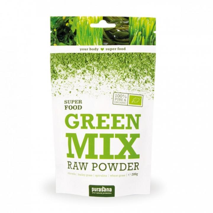 Super Food Poudre Green Mix Bio 200g PURASANA