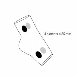 Chevillère Wondermag Magnétique AURIS dessin position aimants