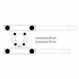 Genouillère Gonoflex Magnétique AURIS vue des aimants