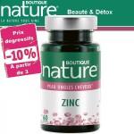 Vente Zinc 60 Gélules BOUTIQUE NATURE
