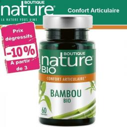 Bambou Bio 60 Comprimés BOUTIQUE NATURE - Belvibio à partir de 3 -10%