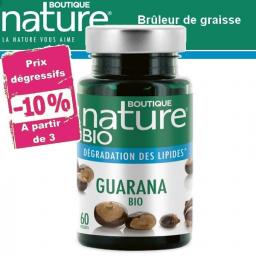 Guarana Bio 60 Gélules BOUTIQUE NATURE à partir de 3 -10%