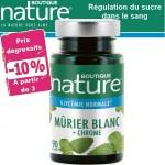 Vente Mûrier Blanc + Chrome 90 Gélules BOUTIQUE NATURE