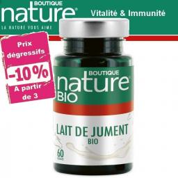 Lait De Jument Bio 60 Gélules BOUTIQUE NATURE à partir de 3 -10%