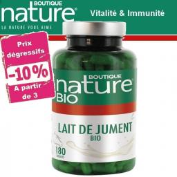 Lait De Jument Bio 180 Gélules BOUTIQUE NATURE à partir de 3 -10%