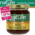 Vente Miel de Montagne Bio 250g BOUTIQUE NATURE