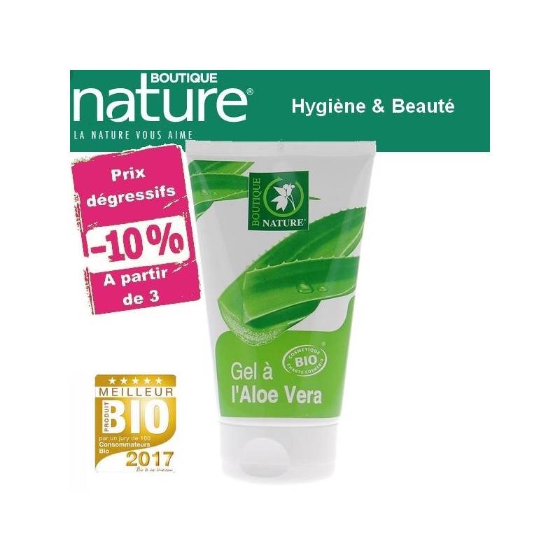 Gel à l'Aloe Vera Bio 125ml BOUTIQUE NATURE à partir de 3 -10%