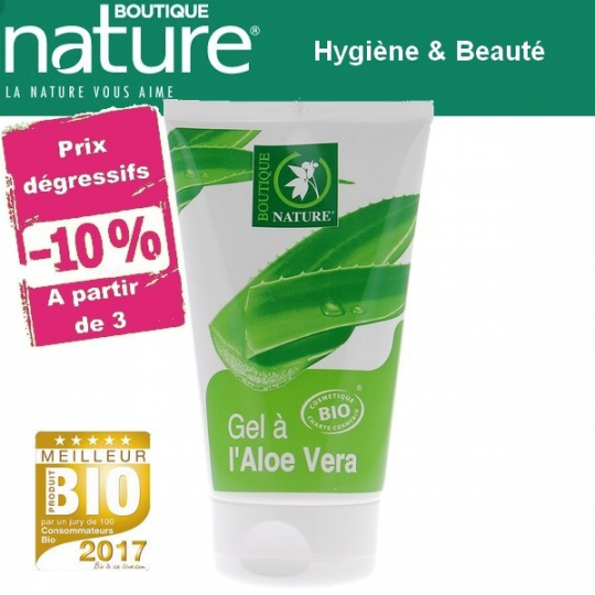 Gel à l'Aloe Vera 98% Bio 125ml BOUTIQUE NATURE