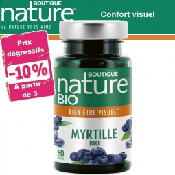 Myrtille Fruit Bio 60 Gélules BOUTIQUE NATURE à partir de 3 -10%