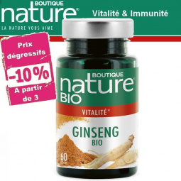 Ginseng Bio 60 Gélules BOUTIQUE NATURE