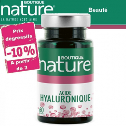 Acide Hyaluronique 60 Gélules BOUTIQUE NATURE à partir de 3 -10%