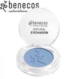 Ombre à Paupières Mono Brillante Bleu Bio BENECOS
