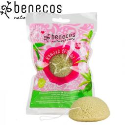 Éponge Konjac Thé Vert Bio BENECOS
