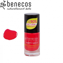 Vernis à Ongles Rouge Flashy Vegan 5ml BENECOS