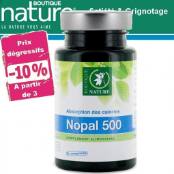 Nopal 500 mg 120 Comprimés BOUTIQUE NATURE à partir de 3 -10%