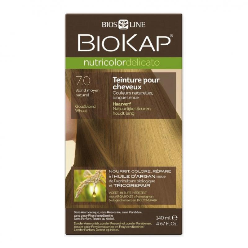 Coloration 7.0 Blond moyen naturel Delicato - 140ml
