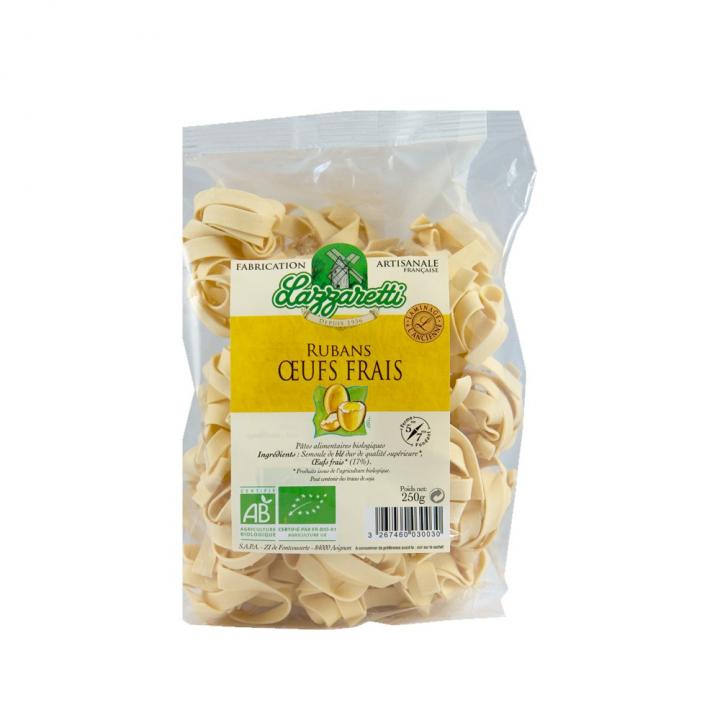 Ruban aux oeufs frais bio 250g - Lazzaretti