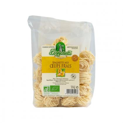 Spaghetti nid aux œufs frais bio 250g - Lazzaretti