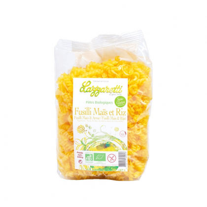 Fusilli maïs et riz sans gluten 500g - Lazzaretti