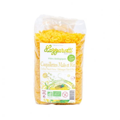 Coquillettes maïs et riz sans gluten - 500g