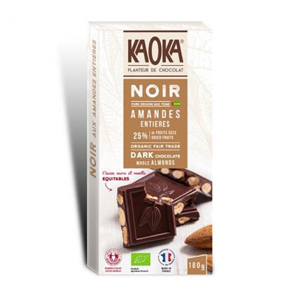 Chocolat Noir Amandes 66% Sao Tomé - 180g