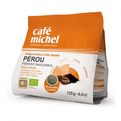 Café bio en dosettes - Pérou - 125g