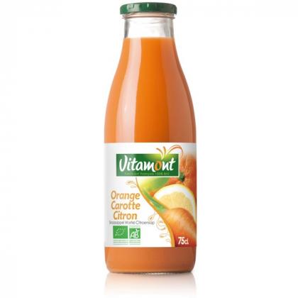 Pur jus d'orange, carotte et citron - 75cL