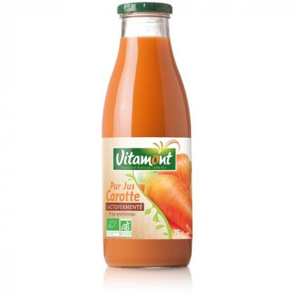 Pur jus de carotte lactofermenté - 75cL