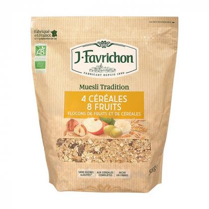 Muesli tradi 4 céréales 8 fruits - 500g