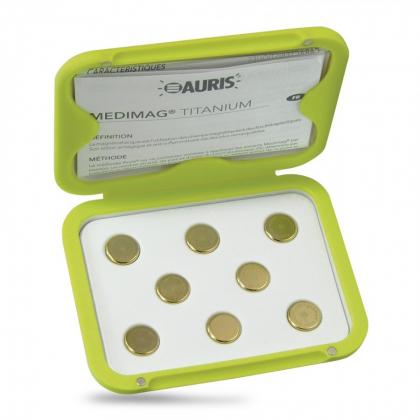 Aimants Thérapeutiques Medimag® Titanium Ø 15mm AURIS boite ouverte