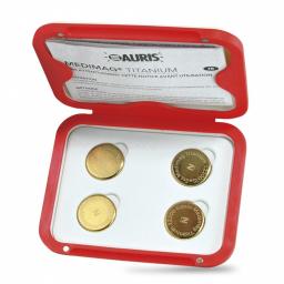 Aimants Thérapeutiques Medimag® Titanium Ø 25mm AURIS boite ouverte