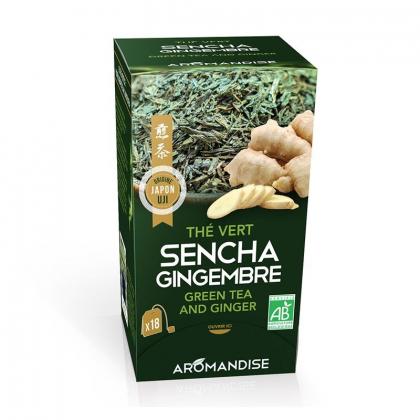Thé vert Sencha et gingembre - 18 infusettes
