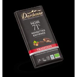 Chocolat noir 71% noisettes - 180g