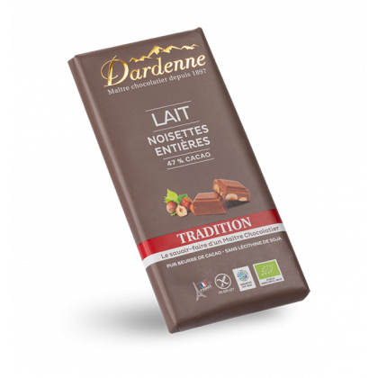 Chocolat lait noisettes - 180g