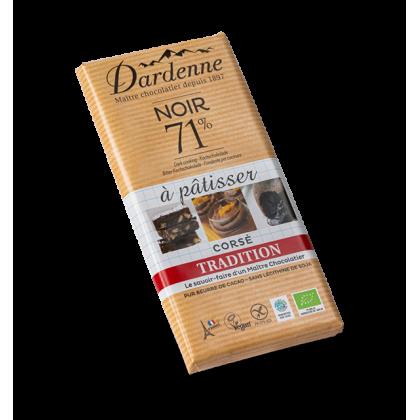 Chocolat noir 71% à pâtissier - 200g