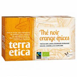 Thé noir orange épices - 20 sachets