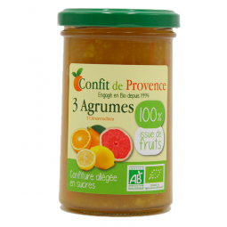 Confiture 100% fruits 3 agrumes - 290g