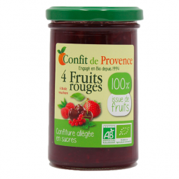 Confiture 100% 4 fruits rouges - 290g