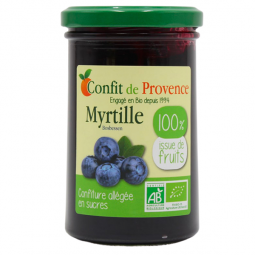 Confiture 100% fruits myrtille - 290g